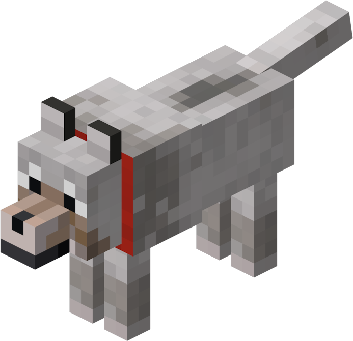 Minecraft dog png. File wolf tamed official