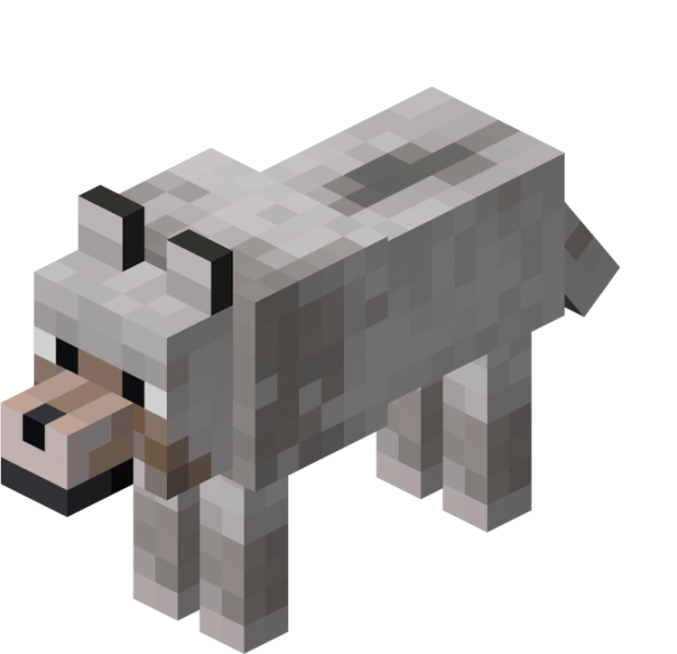Minecraft dog png. Wolves sooo cute and