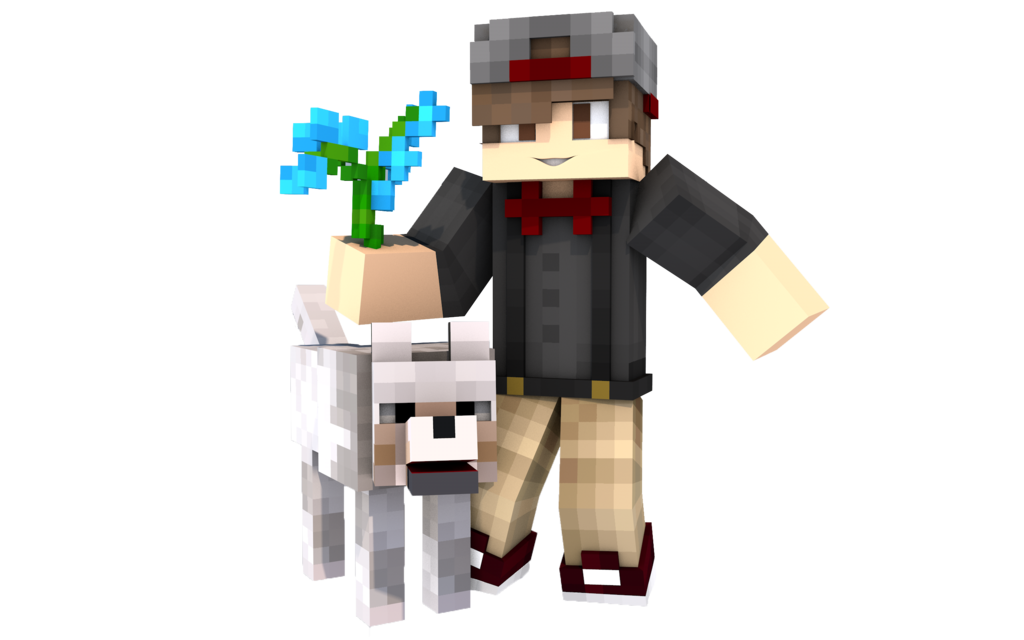 Minecraft dog png. Render for salvatore with