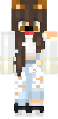 Minecraft girl skin png with slimmer arms. Cute nova dog filter