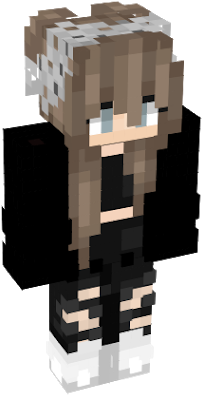 Minecraft girl skin png with slimmer arms. Cute nova dark anime