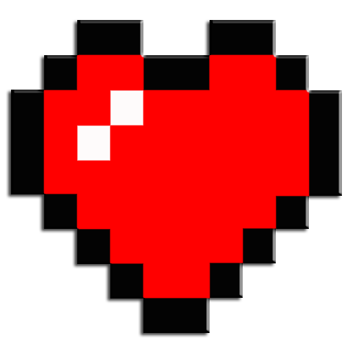 Minecraft health bar png. Amazon com heart container
