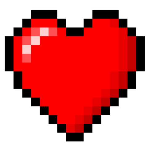 Minecraft heart png. Image story mode ships