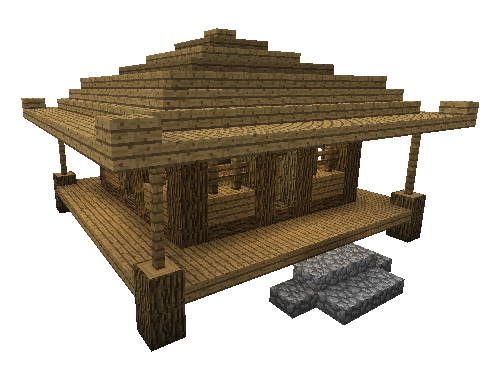 Minecraft house png. Building tutorial small asian