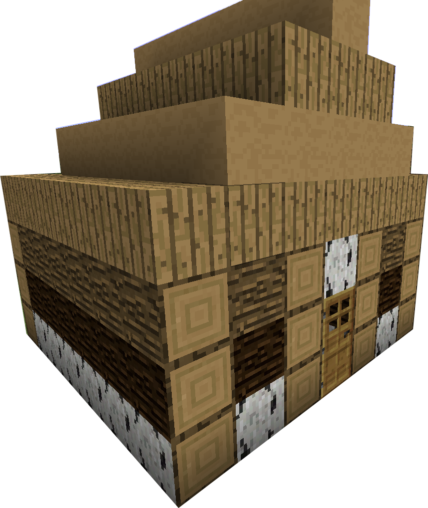 Minecraft house png. More wood v