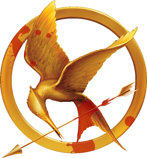 Minecraft hunger games logo png. Bloody mockingjay pin concept