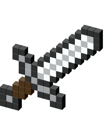 Minecraft iron sword png. Favicon view on tshirt