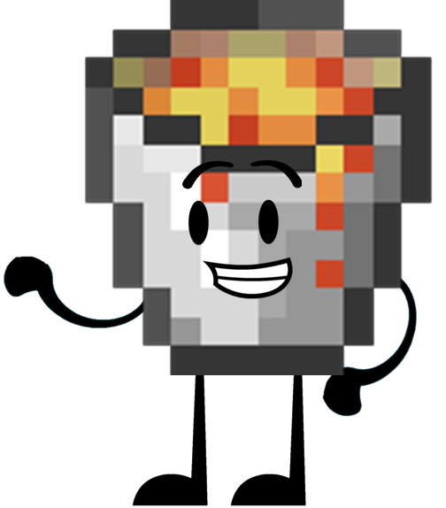 Minecraft lava bucket png. Image object shows community