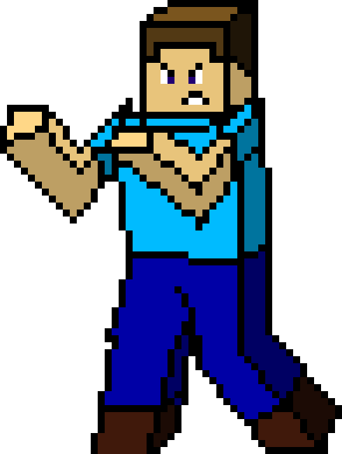 Steve by abdullahaswad on. Minecraft llama pixel art png vector black and white library