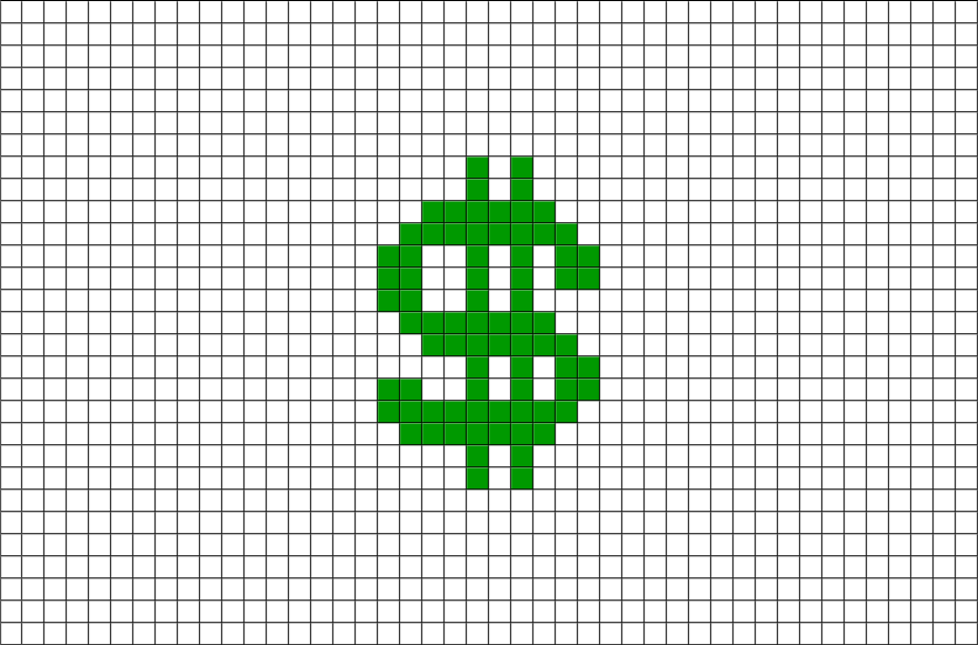 Dollar sign brik designs. Minecraft llama pixel art png png