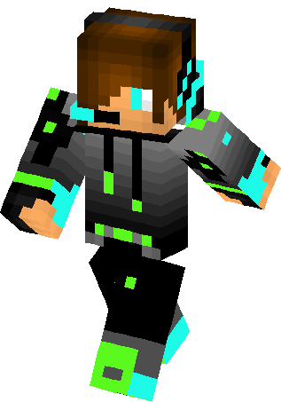 Minecraft net images char png. Monster energy green boy
