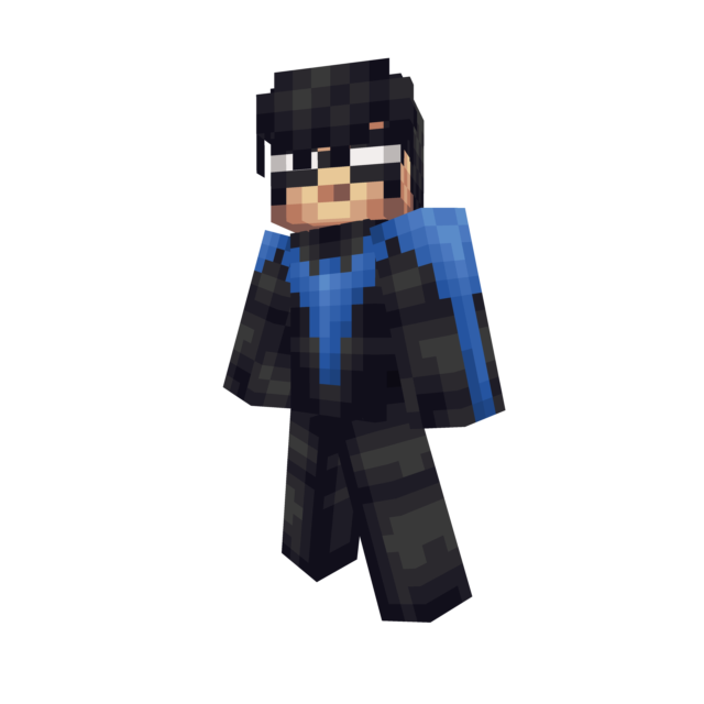 Minecraft nightwing skin png. Dc gender male format