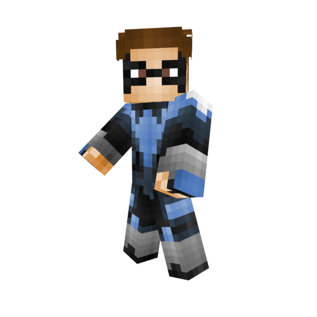Minecraft nightwing skin png. Dick grayson injustice gods