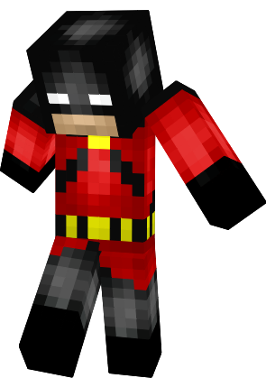 Minecraft nightwing skin png. Red robin dc yjeqewpng