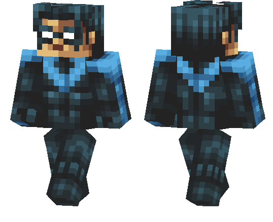 minecraft nightwing skin png