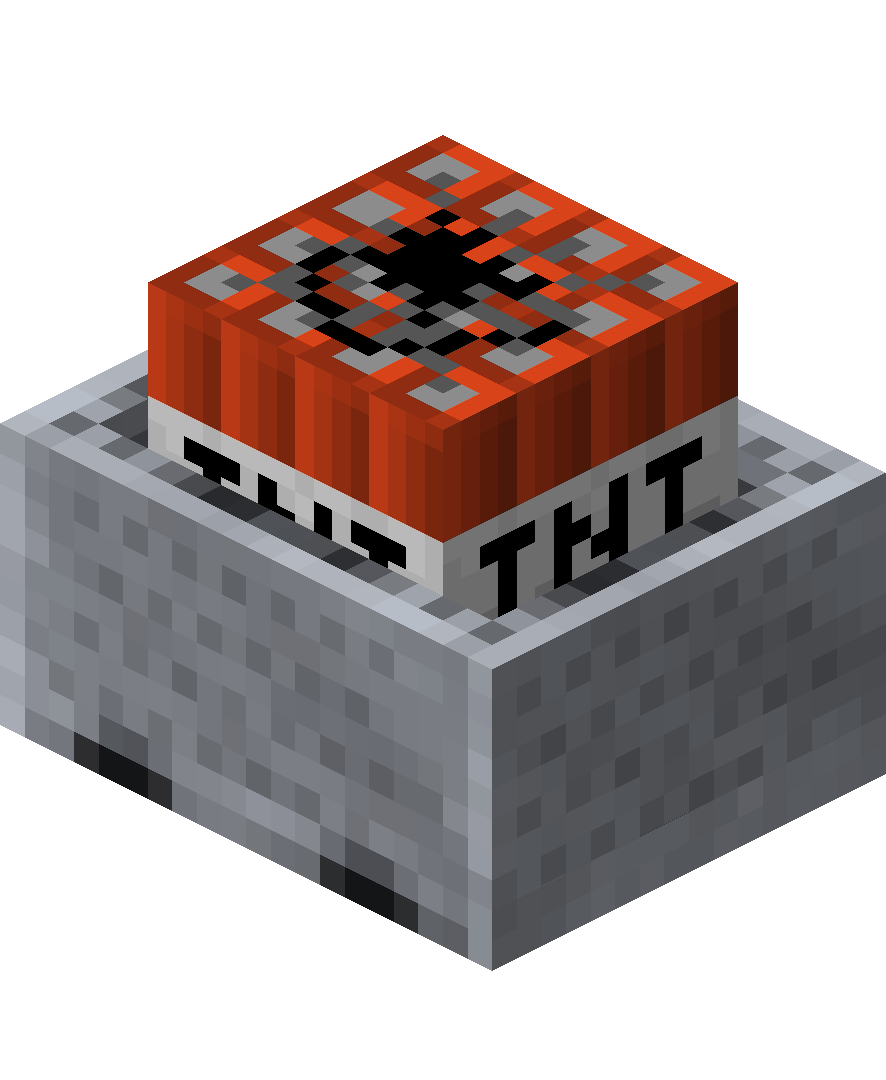 Minecraft nuke png. Minecart with tnt official