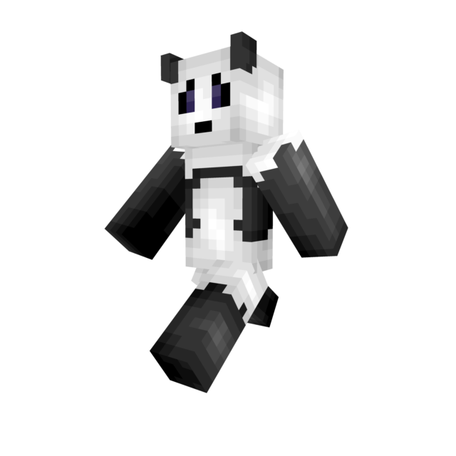 Panda skin png. Updated shading minecraft hlvsjpg
