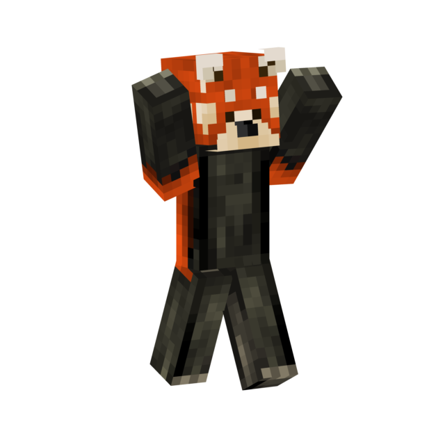 Minecraft panda skin png. Red series muikemypng