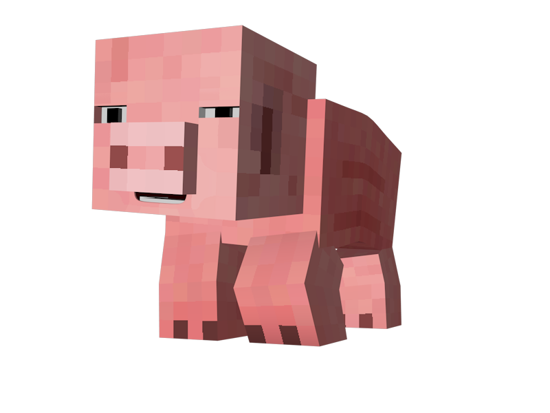 Minecraft pig png. Pocket edition xbox video