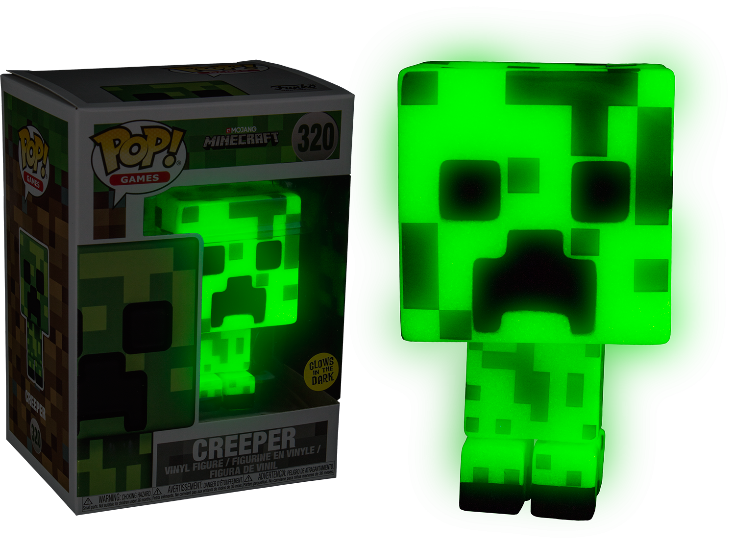 Minecraft png creeper. Glow in the dark