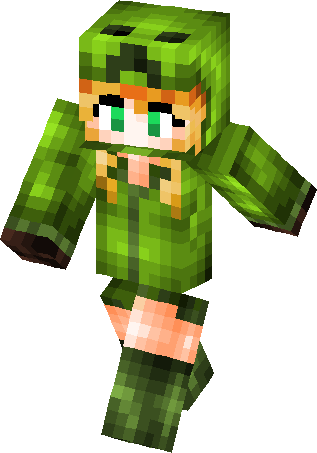 Minecraft png creeper. Chica skin skins