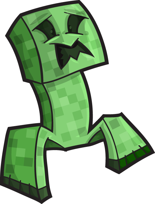 Minecraft png creeper. Vector blocks and boomrocker
