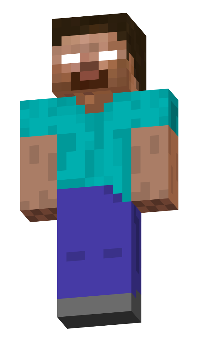 herobrine transparent minecraft steve