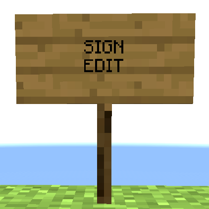 Minecraft sign png. Overview signedit mods projects