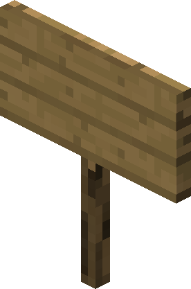 Minecraft sign png. Official wiki