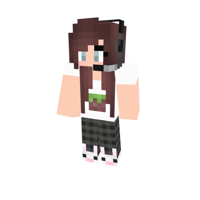Minecraft skin png download. Gamer girl by minecraftcutie