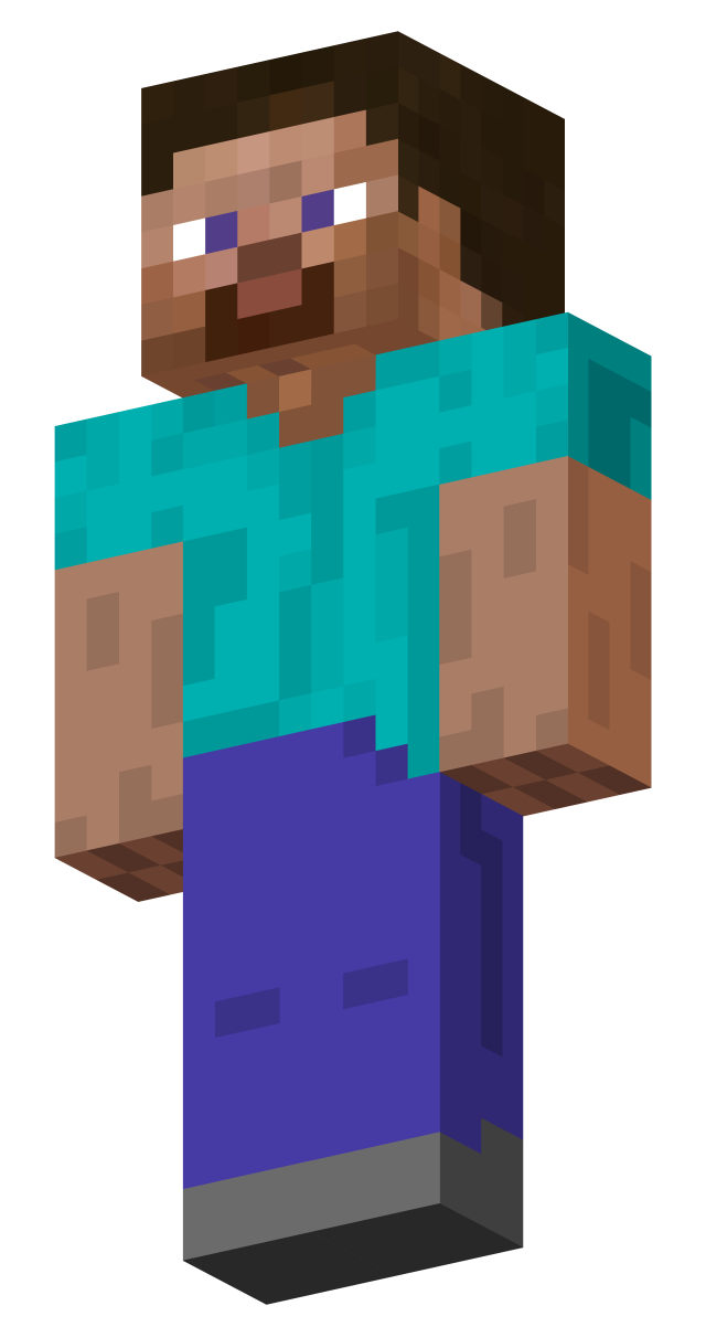 Steve transparent background. Skins minecraft players wiki
