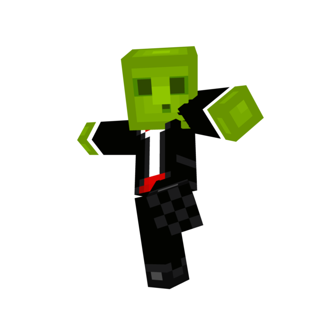 Minecraft slime png. In a suit moving