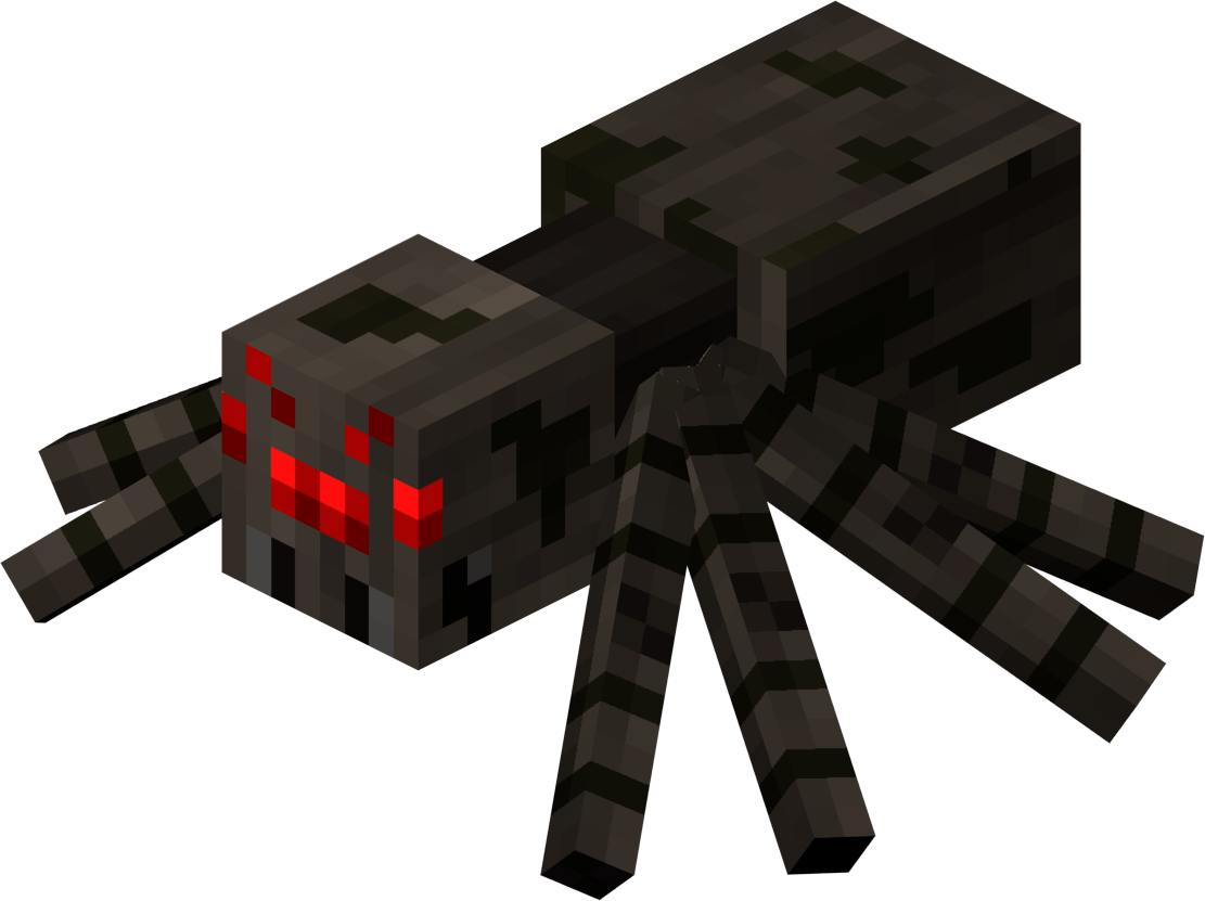 Minecraft spider png. Image characters wiki fandom
