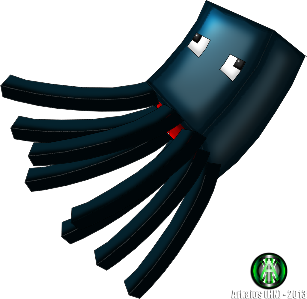 Minecraft squid png. Drawing at getdrawings com