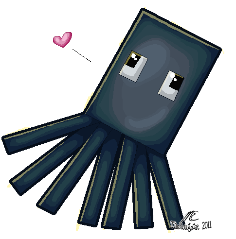 Minecraft squid png. Skweed by therougecat on