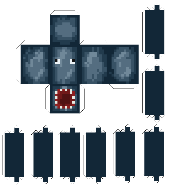 Minecraft squid png. Papercraft how to print
