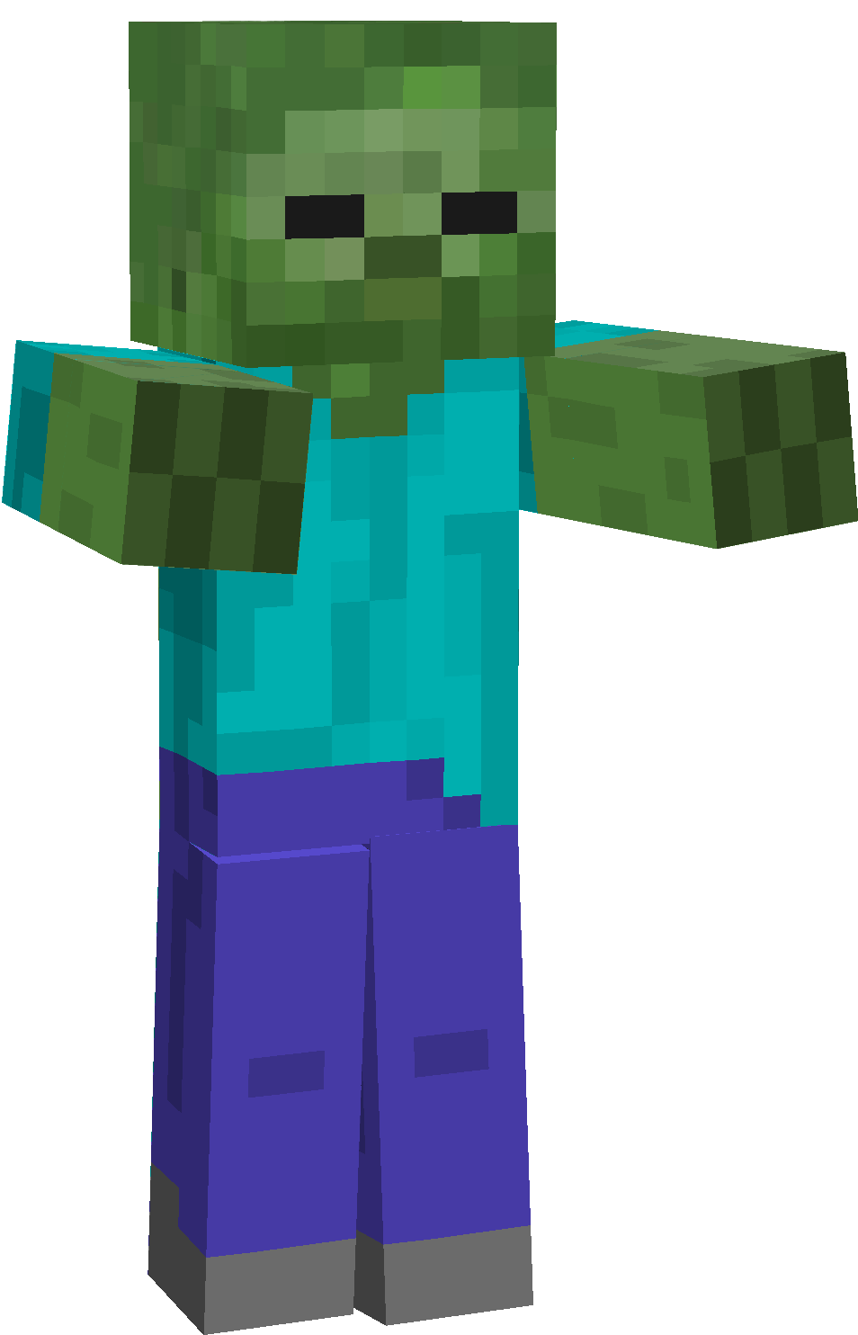 Minecraft zombie png. List of enemies and