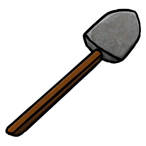 Minecraft stone pickaxe png. Shovel icon iconset chrisl