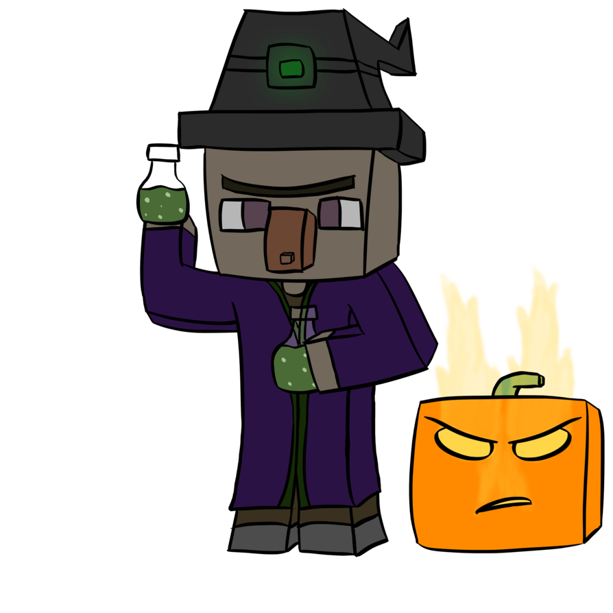 Minecraft witch png. In by robzgraphics on