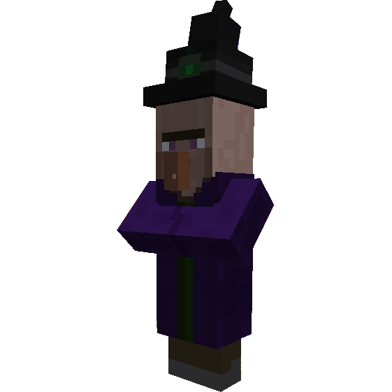 Minecraft witch png. Papercraft how to print