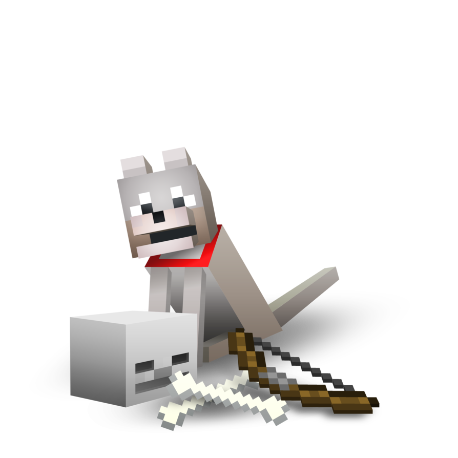 Minecraft wolf png. Image by proller d