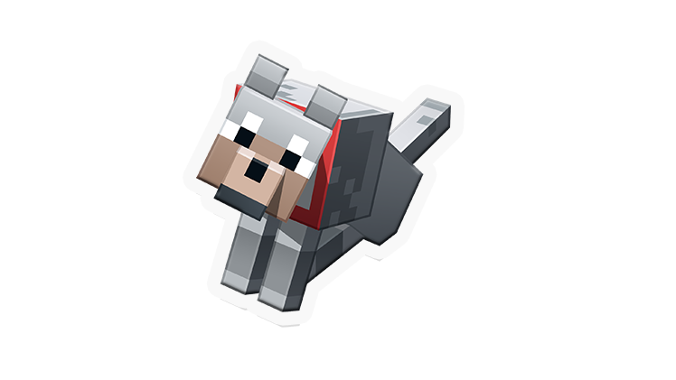 Minecraft wolf png. Stickers out now youll