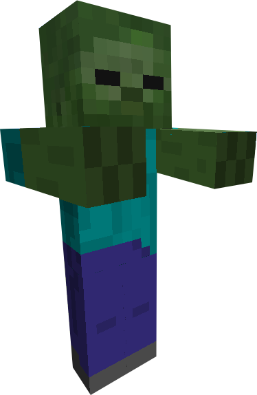 The giant zombies png. Image minecraft zombie by