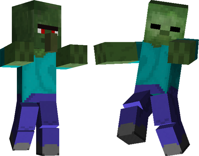 Minecraft zombie png. Titan the files wikia