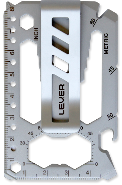 Tool clip metal. Lever gear toolcard one