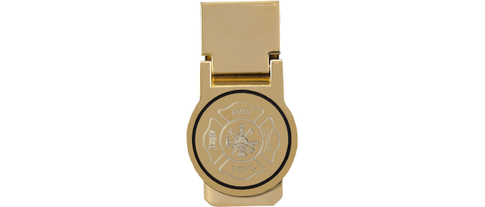 Miney clip watch. Engraved money hinged