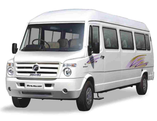 Mini bus png. Force tempo traveller in