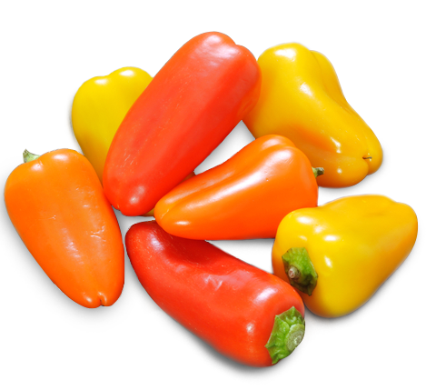 Mini sweet bell peppers png