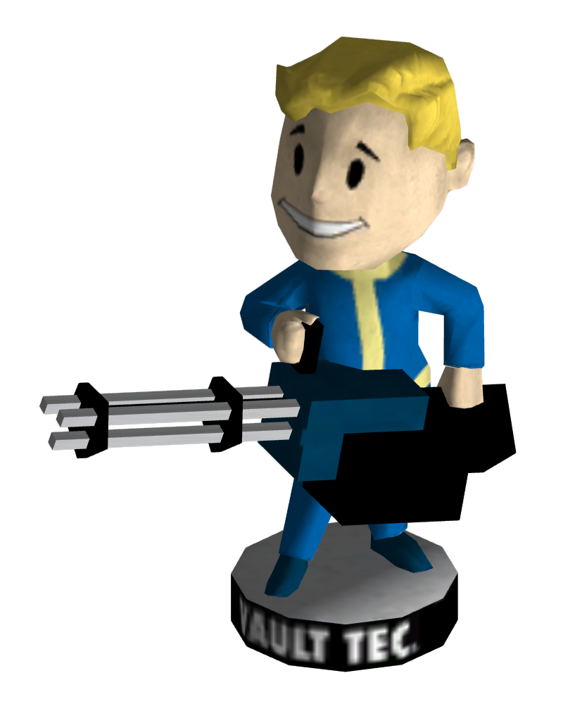 Weapon clip big gun. Bobblehead guns fallout wiki