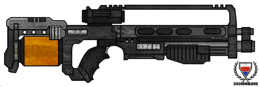 Minigun drawing pimp my gun. Killzone sta assault rifle